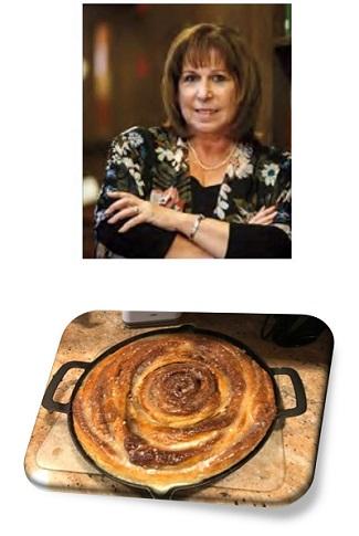 Liz Vellali & the giant skillet cinnamon roll