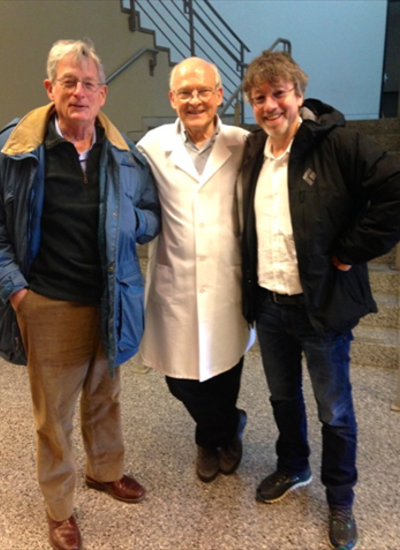 Drs. Soll, Moore and Howard in the cold room for experiements!